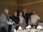 Bill & Pat Herigan, Nancy & Ford Thompson, Dick Shiffert.  Bill, Ford & Dick are former CD football coaches; Pat & Nancy