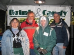 Our 'Drink & Candy Express' team. Deb Krill Culhane '73, Don Kerstetter, Alison Werdt Evans '06, Rich Johnson.   Not