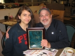 2012 Alumnus of the Year Eric J. Epstein, Class of 1978, with daughter Gabriela