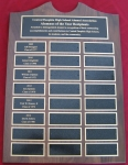 Alumnus of the Year Perpetual Plaque 2013