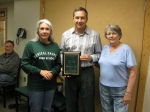 Dave Zeiters '80 came up from Florida to receive his 2012 Alumnus of the Year plaque at our June meeting.  Dave was