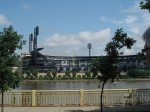A view of PNC Park from across the river.