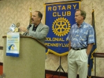 Jeff Hoachlander introduces Marty to the Colonial Park Rotary Club.