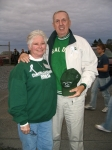 Nance Welch '62 & Abner Smith '60 reminisce at the Homecoming Game.